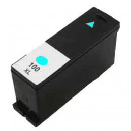 Compatible Lexmark 14N0900E (No100XL) High-Capacity Cyan Inkjet Cartridge,
