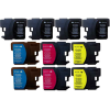 Compatible Brother (Mega 10 Pack) LC1100MPK Inkjet Cartridges