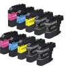 Compatible Brother (Mega 10 Pack) LC123MPK (XL) Inkjet Cartridges