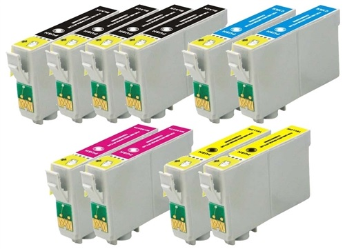 Compatible Epson T1285 (Mega 10 Pack) Inkjet Cartridges
