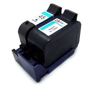 Compatible Hewlett Packard (Dual Pack) HP23/ HP45 Inkjet Cartridges