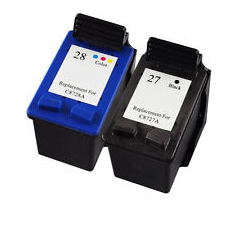 Compatible Hewlett Packard (Dual Pack) HP27/ HP28 Inkjet Cartridges