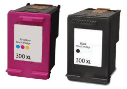 Compatible HP (Dual Pack) HP300(XL) BK/ HP300(XL) CLR Inkjet Cartridges
