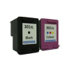Compatible HP (Dual Pack) HP301(XL) BK/ HP301(XL) CLR Inkjet Cartridges