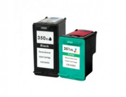 Compatible HP (Dual Pack) HP350 BK (XL)/ HP351 CLR (XL) Inkjet Cartridges