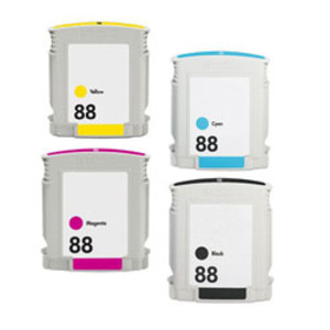 Compatible Hewlett Packard (Mega 4 Pack) HP88 (XL) Inkjet Cartridges