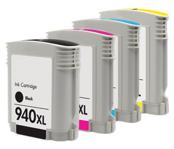 Compatible Hewlett Packard (Mega 4 Pack) HP940 (XL) Inkjet Cartridges