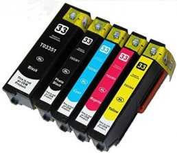 Compatible Epson (33XL)  (Mega 5 Pack) Inkjet Cartridges